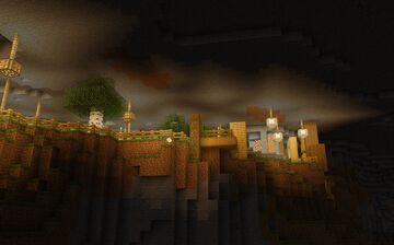 Cave Town [Modern Cliffside Village] Minecraft Map & Project