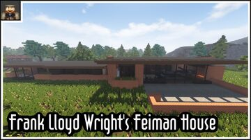 Minecraft cinematic - Frank Lloyd Wright's Feiman House Minecraft Map & Project