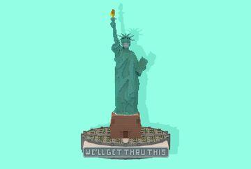 Statue of Liberty against coronavirus | Krysot Minecraft Map & Project