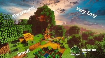 Minecraft | How To Build Small Treehouse - Tutorial Minecraft Map & Project