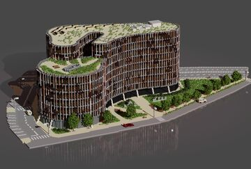 Main Point Karlin | Modern Prague Office Building Minecraft Map & Project