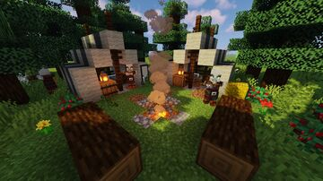 Pillager Bandit Tent Camp Minecraft Map & Project