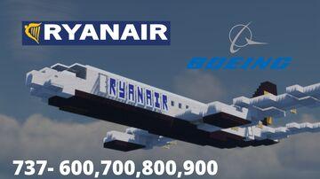 Boeing 737-6,7,8,9 RYANAIR [1:1] Minecraft Map & Project