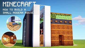 Minecraft: How To Build a Small & Chunk Modern House Minecraft Map & Project
