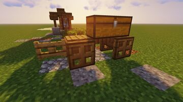 Small Medieval Cart W/ Tutorial Minecraft Map & Project
