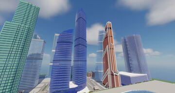 Moscow International Buisness Center (Moscow City) [Москва-Сити] Minecraft Map & Project