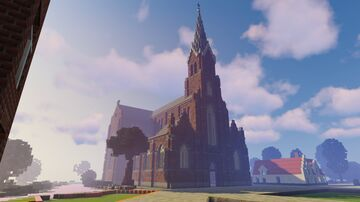 Flemish Town (inspired by pre WWI Bruges)  will be a hide and seek map on Cosmos Cubes Minecraft Map & Project