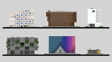 TRIBUTE TO PAST AND PRESENT ARCHITECTURAL VIEWS ON THE FUTURE Minecraft Map & Project