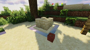 Tiny Sandcastle Detail W/ Tutorial Minecraft Map & Project