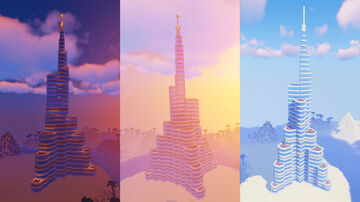 Burj Khalifa in Minecraft (Download) Minecraft Map & Project