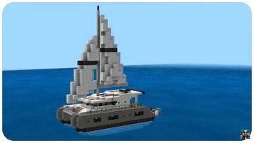 Minecraft: Sailing Catamaran Yacht Tutorial Minecraft Map & Project
