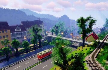 Karlovy Vary (part 2 of project railway KVJG 2020) Minecraft Map & Project