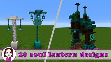 20 Soul lantern designs Minecraft Map & Project