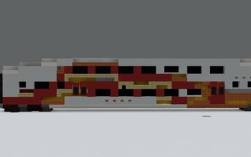New Mexican Rail Runner Bi-Level Coach {1.5:1 Scale} Minecraft Map & Project
