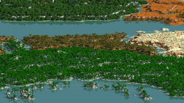The Outlands - survival map 20000x15000 (worldpainter) Minecraft Map & Project
