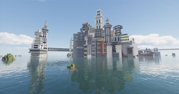 "Scy Fi city ""phoenix"" Minecraft Map & Project"