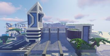 Futuristic City Progress #8 Minecraft Map & Project