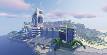 Futuristic City Progress #8 Minecraft Map & Project