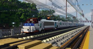 Acela Express Train 1.5:1 Scale Minecraft Map & Project