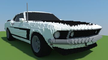 Ford Mustang Boss 302 1969 Minecraft Map & Project