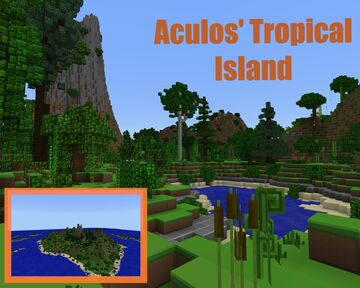 Aculos' Tropical Island Minecraft Map & Project