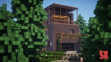 Stealthy Concept House Minecraft Map & Project