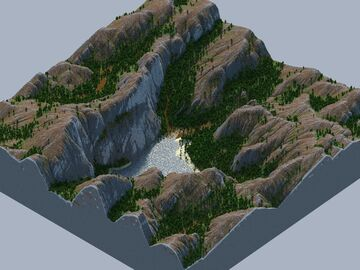 🌍 Custom Small Terrain - Foresty Valley - Testmap, what do you think Minecraft Map & Project