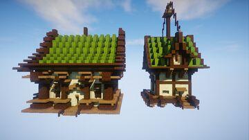 Casas Medieval Pequeña Minecraft Map & Project