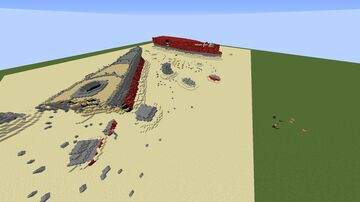 IJN Yamato Wreck 1:1 scale Minecraft Map & Project