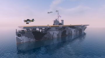 FNS Joukahainen | Fictional Finnish Aircraft Carrier Minecraft Map & Project