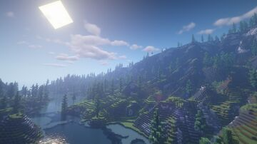Mountain river Minecraft Map & Project