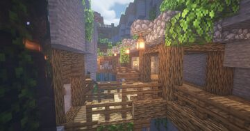 Casa na Ravina | House in the Ravine Minecraft Map & Project
