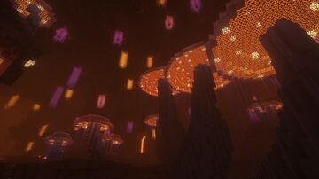 Funtazer's Nether Mushroom Collection + Free Crystal Cave Minecraft Map & Project