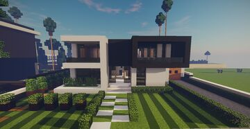 Modern House #11 + Schematics Minecraft Map & Project