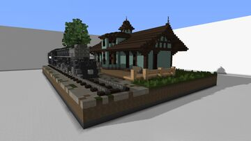 Old Train Station - Train By Seaspray Minecraft Map & Project
