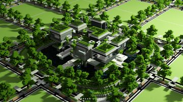 Nature Modern Spawn Minecraft Map & Project