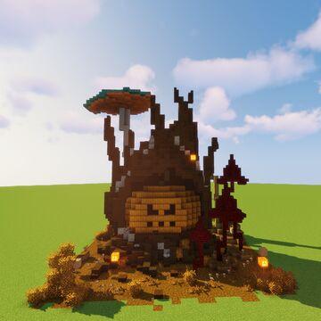 Tree stump and pumpkin   Halloween build Minecraft Map & Project