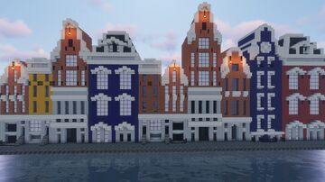 Amsterdam Canal Road [SCHEMATIC + DOWNLOAD] Minecraft Map & Project