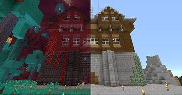 1.16 Mirror Mansion, Nether Update Minecraft Map & Project