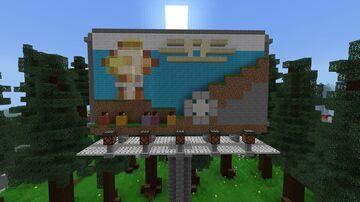Fallout 4 Vault Tec billboard Minecraft Map & Project