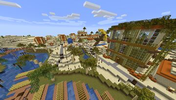 Goldcliff Oasis Minecraft Map & Project