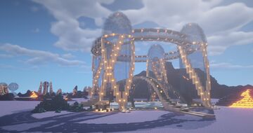 Large Futuristic Dome Base Minecraft Map & Project