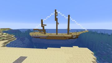 fictional sail merhcant ship Minecraft Map & Project