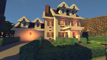 My Colonial Style Home Minecraft Map & Project