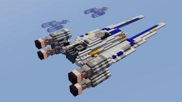 Star Wars - UT-60D U-Wing Starfighter Minecraft Map & Project