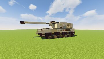 Diana - 155 mm Self-propelled Howitzer Minecraft Map & Project