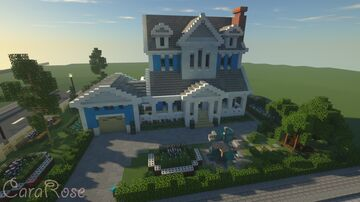 The Blue Lakes House Interior Minecraft Map & Project