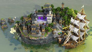 Island Medieval Village Minecraft Map & Project