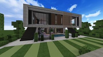Realistic small Modern house Minecraft Map & Project
