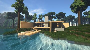 Modern Forest Lake House Minecraft Map & Project